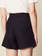 Short Taille Haute À Volants : LastChance-CH-FSelection-Pap&Access couleur Marine