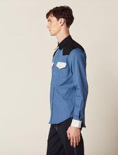 Camicia Stile Western Color-Block : Sélection Last Chance colore Blu