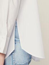 Camicia In Popeline Con Polsini Alti : null colore Bianco