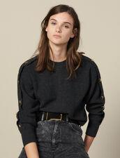 Pullover Con Bottoni Gioiello : Maglieria & Cardigan colore Antracite