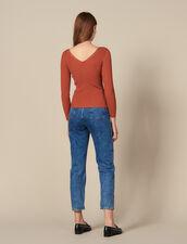 Pullover Con Bottoni A Pressione Logati : FBlackFriday-FR-FSelection-Pulls&Cardigans colore Terracotta