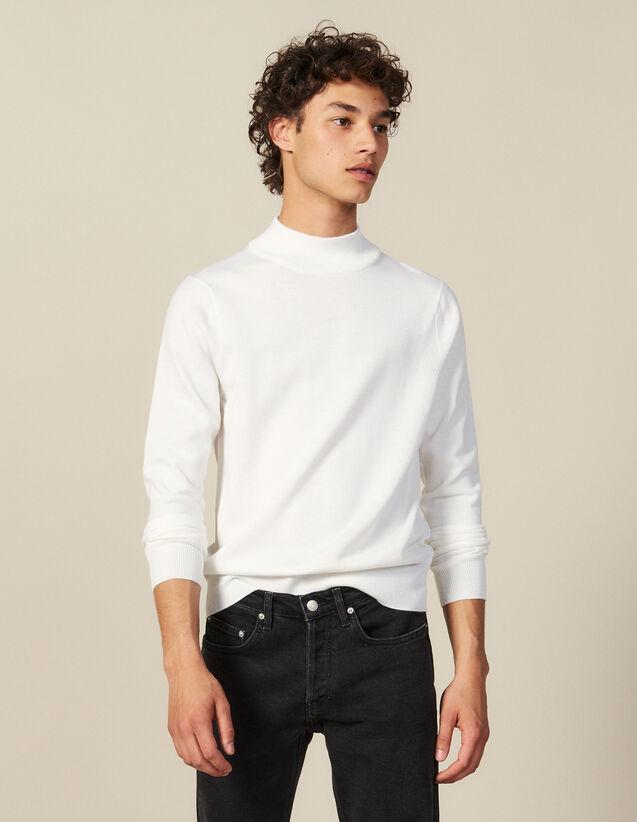 Pullover Con Collo A Lupetto : Maglioni & Cardigan colore Ecru