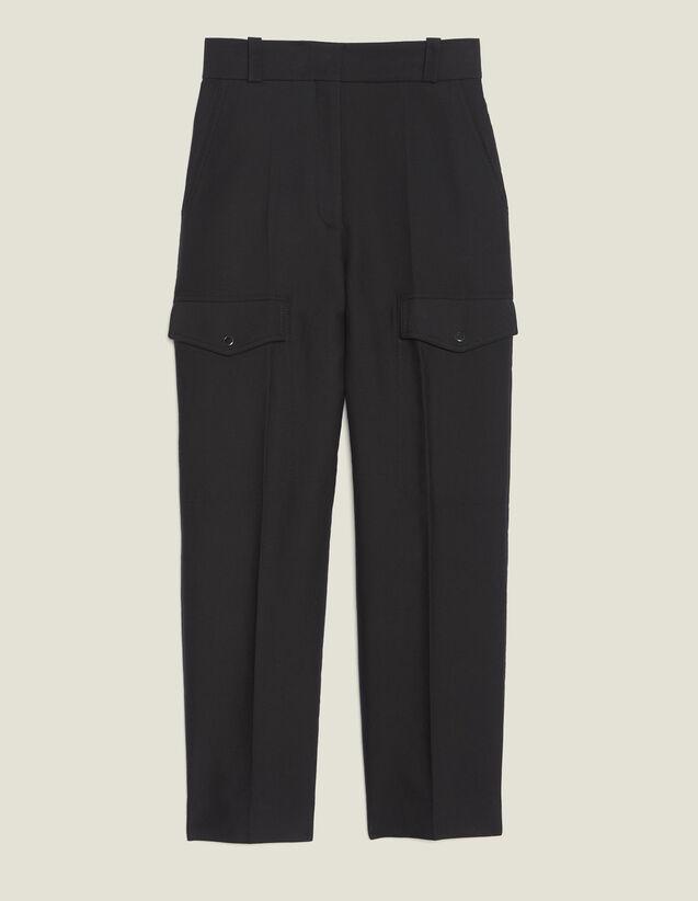 Pantaloni Cargo : Pantaloni colore Nero