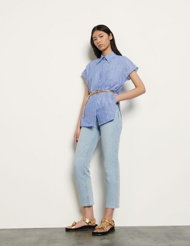 Chemise sans manches oversize : Tops & Chemises couleur Bleu