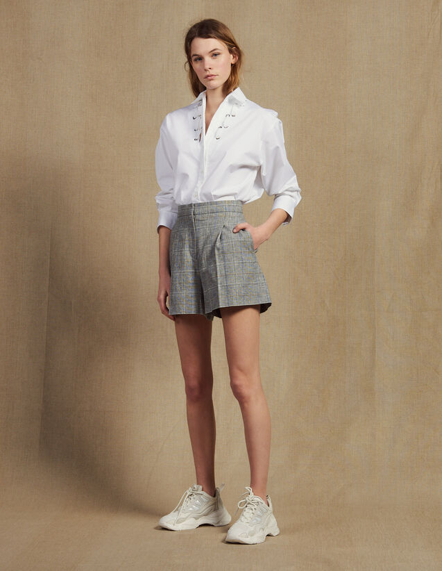 Short A Quadri : Gonne & Short colore Grigio
