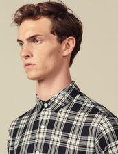 Camicia A Quadri Fluida : Camicie colore Blu Marino