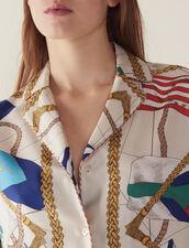 Camicia Stampata Stile Pigiama : null colore Ecru