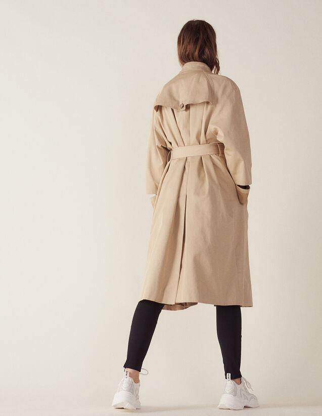 Manteau Long Esprit Trench Coat : null couleur Beige
