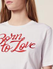 T-Shirt A Maniche Corte Con Scritta : null colore Bianco