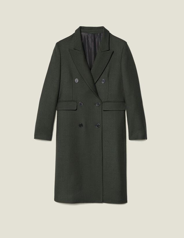 Manteau long en laine : Manteaux couleur Kaki