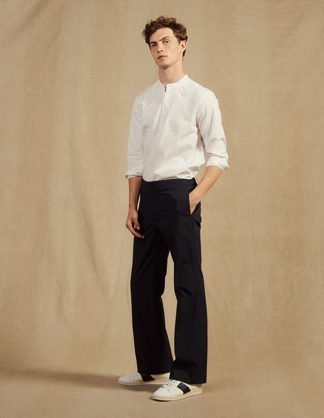 Pantalon Taille Élastique En Coton : Sélection Last Chance couleur Marine