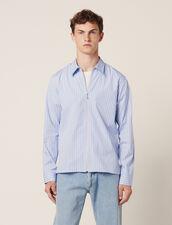 Camicia A Righe Con Zip : LastChance-CH-HSelection-Pap&Access colore Blu