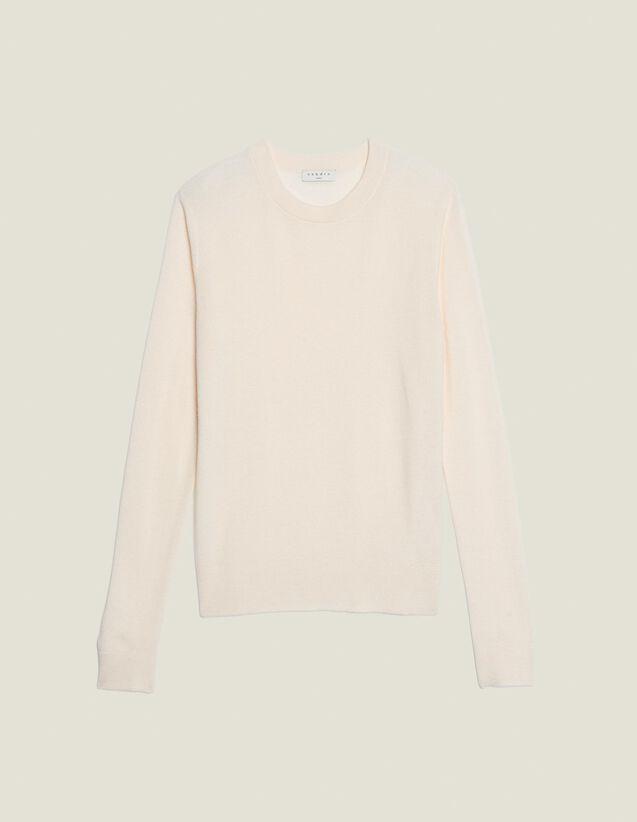 Pullover In Maglia Fantasia Sottile : Maglioni & Cardigan colore Bianco Sporco