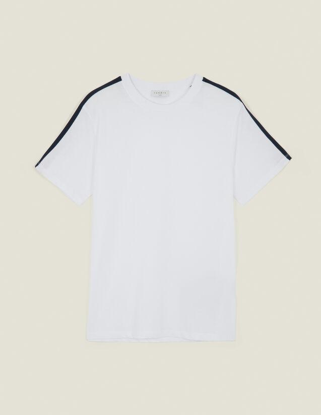 T-Shirt Con Righe Sulle Maniche : L'intera collezione Invernale colore Bianco