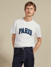 T-Shirt Con Scritta Applicata : LastChance-CH-HSelection-Pap&Access colore Bianco