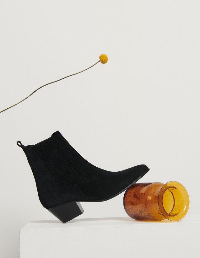 Boots en cuir à élastiques : Toutes les Chaussures couleur Noir