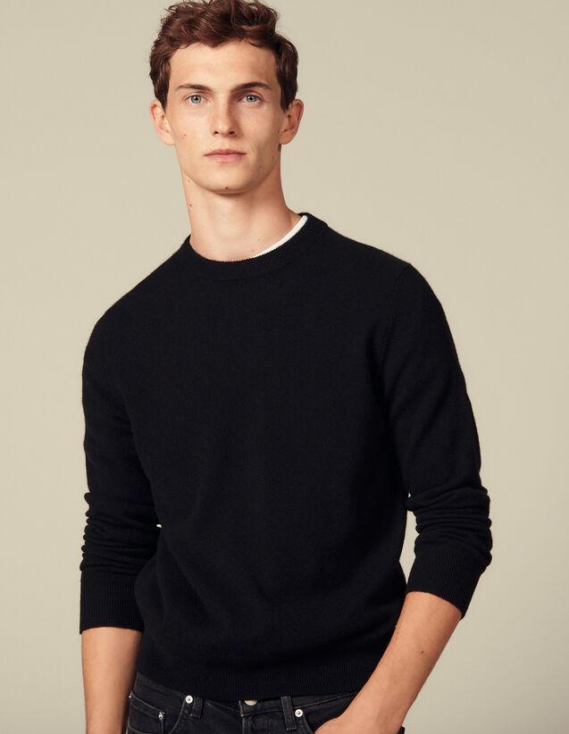 Pullover In Cashmere A Filo Doppio : Maglioni & Cardigan colore Nero