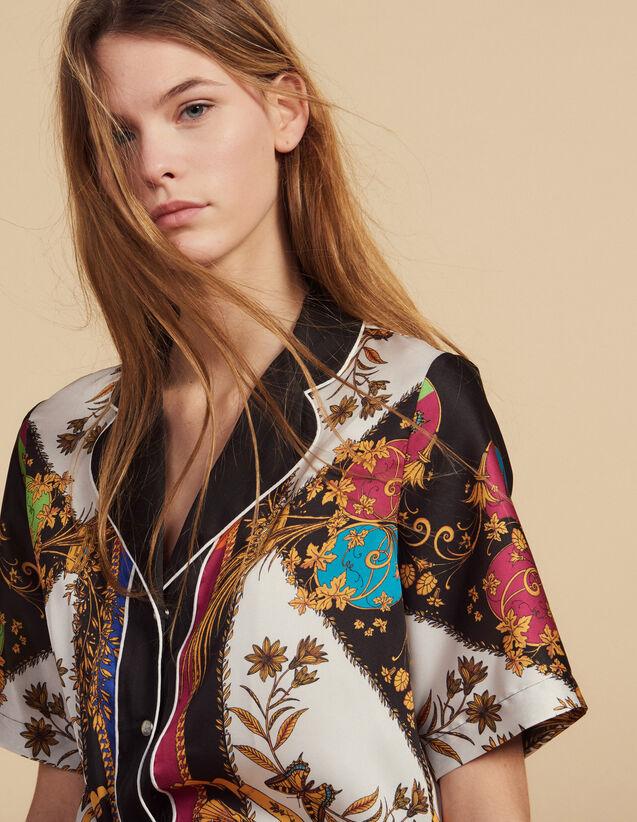 Camicia Stampata A Maniche Corte : Camicia stampata colore Multicolore
