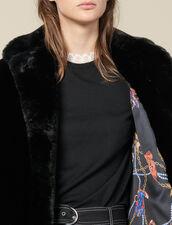 Cappotto In Finta Pelliccia : Cappotti colore Nero