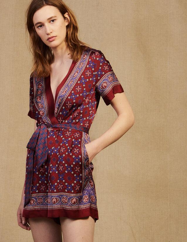 Combinaison Short Imprimée : LastChance-FR-FSelection couleur Bordeaux