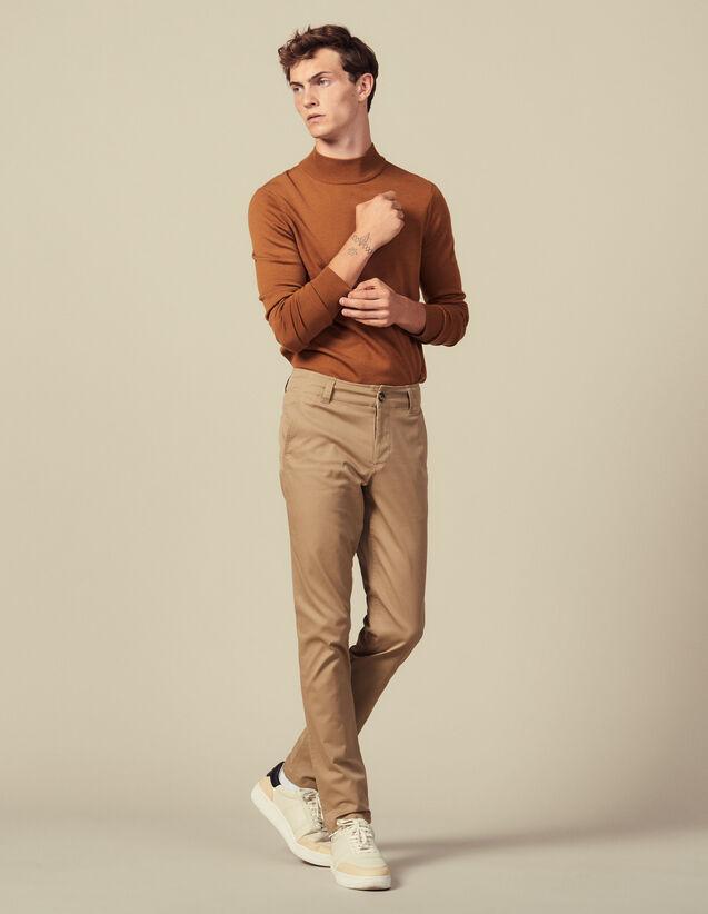 Pantaloni Chino In Cotone : Pantaloni & Short colore Beige
