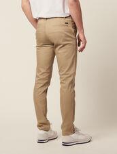 Pantaloni Chino Dritti : LastChance-CH-HSelection-Pap&Access colore Beige