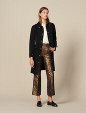 Pantalon De Tailleur Évasé En Brocard : LastChance-ES-F50 couleur Or