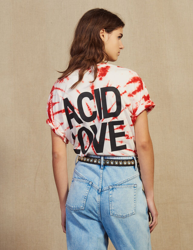 T-Shirt Tie & Dye : null colore Rosso