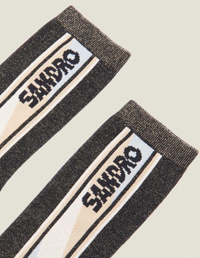 Chaussettes En Lurex : Chaussettes couleur Noir
