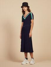 Abito Lungo In Maglia Sportswear : Abiti colore Blu Marino