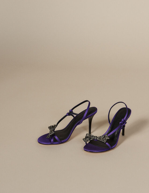 Sandali in satin con fiocco con strass : FBlackFriday-FR-Selection-Chaussures colore Viola