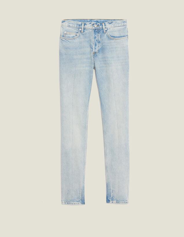 Jeans Délavé Chiari - Slim : Jeans colore Blue Vintage - Denim