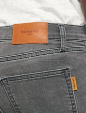 Jeans grey délavé - Slim : Jeans colore Grigio