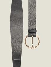 Cintura A Doppio Giro In Pelle : Cinture colore Nero