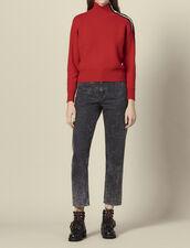 Pullover con bottoni a pressione : Maglieria & Cardigan colore Rosso