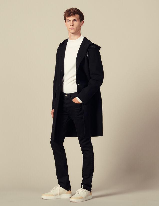 Parka in lana double face : Trench & Cappotti colore Cammello