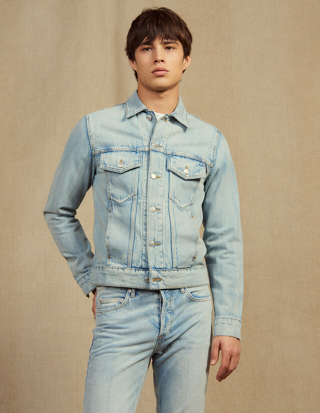 Blouson En Denim : Sélection Last Chance couleur Stone Washed - Denim