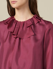 Top In Seta Con Collo Asimmetrico : LastChance-ES-F50 colore Fucsia