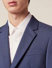 Veste De Costume En Laine : LastChance-FR-H50 couleur Gris bleuté