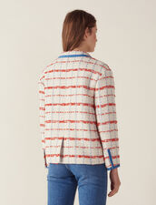 Giacca Blazer In Tweed : Giacche & Giubbotti colore Multicolore