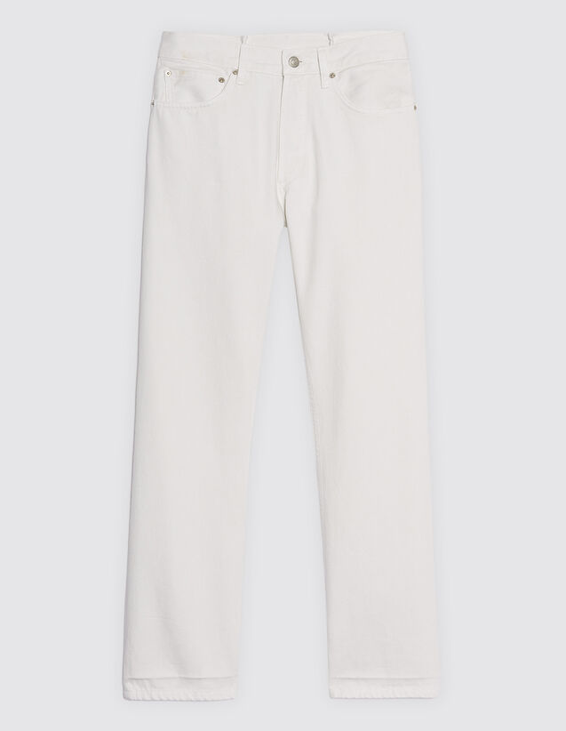 Jeans Bianchi Linea Dritta : Jeans colore Bianco