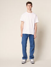 T-Shirt Over Size En Coton : SOLDES-CH-HSelection-PAP&ACCESS-2DEM couleur Blanc