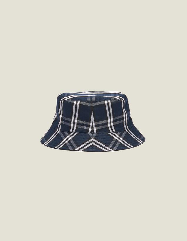 Cappello In Tessuto Tecnico Reversibile : Berretti colore Blu Marino