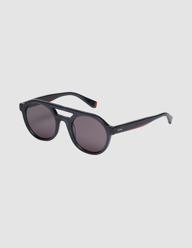 Occhiali da sole aviatore unisex : Occhiali da sole colore Gris charbon
