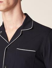 Camicia Stile Pigiama Con Bordo : Sélection Last Chance colore Blu Marino