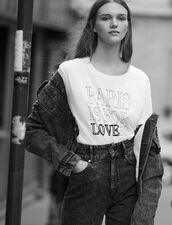 T-Shirt In Cotone Con Scritte : LastChance-ES-F50 colore Bianco