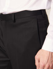 Pantaloni Da Smoking In Grain De Poudre : Abiti & Smoking colore Nero
