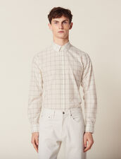 Camicia In Cotone Sottile : Camicie colore Ecru