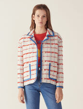 Giacca Blazer In Tweed : null colore Multicolore