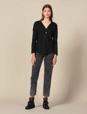 T-Shirt In Lino A Maniche Lunghe : FBlackFriday-FR-FSelection-30 colore Nero